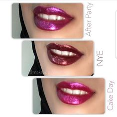 More Exclusive for the . Lipsticks in smooth satin formula,… Sparkly Lipstick, Velvet Lipstick, Pink Lipsticks, Lipstick Tutorial, Beautiful Lips, Lip Makeup, Huda Beauty, Hair And Nails, Beauty Women