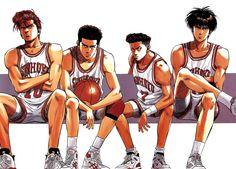Tags: Slam Dunk, Sakuragi Hanamichi, Rukawa Kaede, Mitsui Hisashi, Miyagi Ryouta
