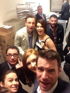 Katie Lowes, Josh Malina( love josh Malina's expression) Darby Stanchfield, Tony Goldwyn, Bellamy Young, Guillermo Diaz, and Scott Foley