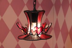 ◆ トリックハート Trick Heart ◆ ステンドグラス ペンダントライト | 天井照明 ランプ LED対応 帽子 ハート:楽天