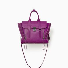 3.1 PHILLIP LIM Exclusive: Pashli medium satchel - Orchid. #3.1philliplim #bags #shoulder bags #hand bags #leather #satchel #