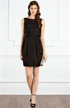 Asymmestrical Shutter Top Black Party Dress Style Code: 13359 $124 Order here: http://www.outerinner.com/asymmestrical-shutter-top-black-party-dress-pd-13359-11.html