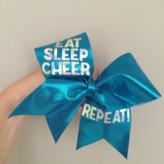 Hey, I found this really awesome Etsy listing at https://www.etsy.com/listing/210709317/eat-sleep-cheer-repeat-big-blue-spandex