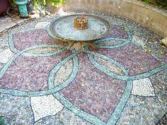 A beautiful rock mosaic by Jeffrey Bale.