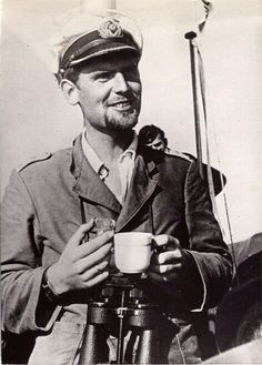 Joachim Schepke (U-3, U-19, U-100), 11th most successful U-boat commander of WWII. KIA when U-100 was rammed by HMS Vanoc on March 17, 1941.