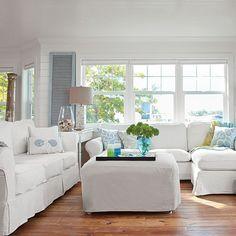 Invest in Slipcovers - Romantic Anna Maria Island Beach House - Coastal Living