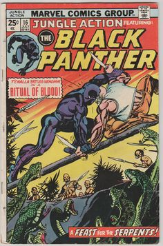 Jungle Action V2 16 Mark Jeweler's Insert. by RubbersuitStudios #blackpanther #comicbooks