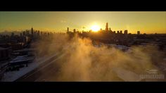 Our city is the best city! Check out this amazing aerial view of a frozen Chicago.