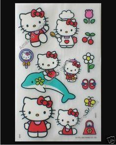 2 Scrapbook Craft Hello Kitty Rub on Transfer Stickers