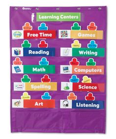 Classroom Centers Pocket Chart by Learning Resources #zulily #zulilyfinds