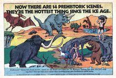 Prehistoric scene kit from Aurora