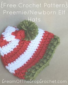 17335c6e170 Get the NICU ready for Christmas with these Preemie Newborn Elf Hats. Skill  Level