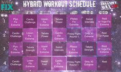 21 Day Fix Extreme and Insanity Max: 30 Hybrid Workout Calendar ...