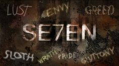 """SE7EN, David Fincher  """"Long is the way, and hard, that out of hell leads up to light."""" J.M."""