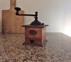 French coffee mill peugeot hand coffee grinder wooden
