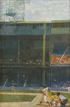 Bernie Fuchs - 'Detroit Tigers' Stadium ' - Telluride Gallery of Fine Art