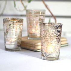 silvered votive by drift living | notonthehighstreet.com