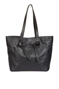 Topshop: TYSON Leather Knot Tie Shopper Bag. 100% Leather, $80