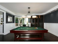 Contemporary Billards Pool Game Room - Aqualane Shores -Naples, Fl