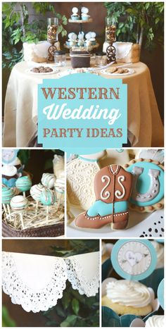 A shabby chic western wedding bridal shower with doily party decorations, paper flowers, cupcakes and cake pops!  See more party ideas at CatchMyParty.com!