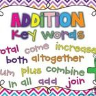 These Addition and Subtraction Key Word Posters serve as a colorful visual of important math ideas. Simply print and laminate each poster, then dis...