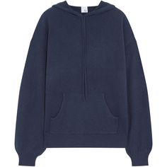 Iris and Ink Anya cashmere hooded top (€190) via Polyvore featuring tops, hoodies, navy, navy blue top, navy blue hoodies, light weight hoodies, sleeve top und lightweight hoodies