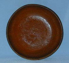 Antique Slip Decorated Lead Glazed Redware Deep Plate Southeastern Pennsylvania