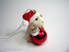 Sparkly Santa Guinea Pig Tree Decoration (£25)