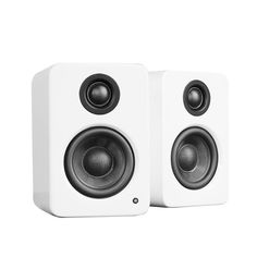 Buy Kanto Powered Desktop Speakers with Built-in USB DAC, Matte White with fast shipping and top-rated customer service. Desktop Speakers, Small Speakers, Audio Speakers, Car Audio, Cool Bookshelves, Better Music, Bookshelf Speakers, Speaker Design, Wearable Technology