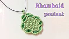 Macrame pendant tutorial: the Rhomboid pendant. This video Macrame pendant tutorial: the Rhomboid pendant is my first video in this 2018 year. Hope you like it and thank for watching Collar Macrame, Macrame Bracelet Tutorial, Friendship Bracelets Tutorial, Necklace Tutorial, Macrame Earrings, Macrame Jewelry, Macrame Bracelets, Loom Bracelets, Tatting Jewelry