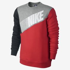 Nike Club Crew Color-Block Men's Sweatshirt. Nike Store