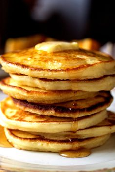 The basic pancake is made from a simple batter of eggs, flour, milk and baking powder for leavening You can use different types of flour if you want to experiment with whole wheat or buckwheat And you can also add fruit to the mixture