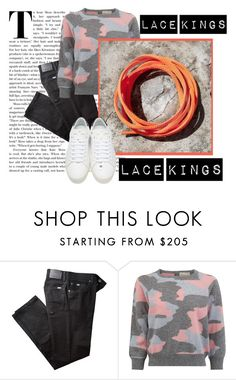 """Lace Kings 19"" by barbara-996 ❤ liked on Polyvore featuring BRAX and Yves Saint Laurent"