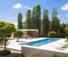 The Best 20 Garden Decoration Ideas Of 2019 Modern Pool House, Modern Pools, Bedroom Black, Pool Landscaping, Pool Houses, Ibiza, Garden Design, Swimming Pools, Pergola