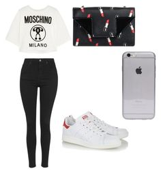 """""""Untitled #74"""" by mariana-martins-ii on Polyvore featuring Yves Saint Laurent, Topshop, Moschino and adidas Originals"""