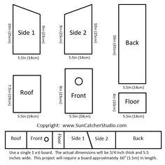 DIY Birdhouse plans (Click to enlarge)