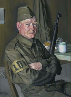 Walter Rankin (active 1940), Local Defence Volunteer (Home Guard), by William Oliphant Hutchison