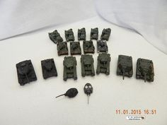 WARGAMING PIECES: MILITARY ARMOUR! 16 PIECES! PEWTER! MOST PAINTED! USED! AS IS! #UNKNOWN