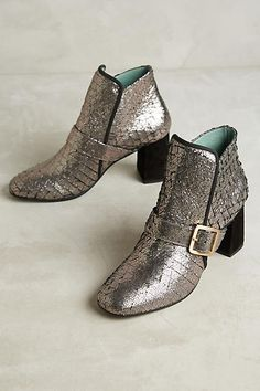 Paola d'Arcano Scaled Leather Booties - anthropologie.com