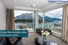 Spiker windows offer exclusive 10 ft #uPVC #balcony #doors to create a #beautiful space and to let you enjoy the outdoors #panoramic vision from your room.