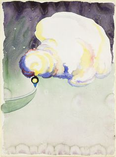 "Train at Night in the Desert  Georgia O'Keeffe (American, 1887-1986)    (1916). Watercolor and pencil on paper, 11 7/8 x 8 7/8"" (30.3 x 22.5 cm). Acquired with matching funds from the Committee on Drawings and the National Endowment for the Arts. © 2012 The Georgia O'Keeffe Foundation / Artists Rights Society (ARS), New York  113.1979"