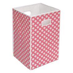 Badger Basket Folding Hamper/Storage Bin - Pink