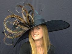 Derby Hat possibility #2. Winner's Circle Feathered Hat for the Kentucky Derby