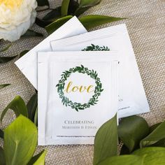 Bridal shower tea parties are very popular. What could be better than biscuits, finger sandwiches and afternoon tea with your girlfriends? Give them personalized tea bags to remember the afternoon, each can be printed with up to two lines of custom text.
