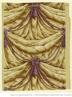 Fabulous faux drapery (Tromp e- l'oile) Wallpaper. 1800  Hartmann Risler et Cie (Rixheim)