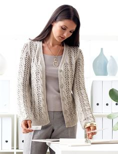Lace and Cable Cardigan - free knitting pattern