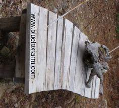 Rustic twig and barn wood bench!