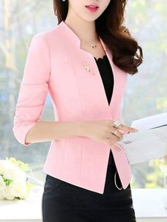 Stylish Job Work Outfit Ideas to Look Attractive Blazer Outfits Casual, Blazer Fashion, Fashion Wear, Classy Outfits, Fashion Dresses, Dress Outfits, Fashion Clothes, Womens Fashion, Dame Chic