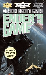 This is the story of Ender, child genius, who is removed from his family to begin his training in a harsh military school, where he is taught on exciting computer-simulated war games to lead the earth's armies in space against alien forces. (SFPB CARD)