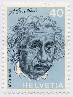 Einstein stamp Switzerland